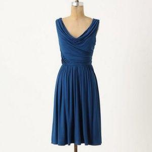 Anthropologie Deletta Pezza Dress Ruched NEW XS